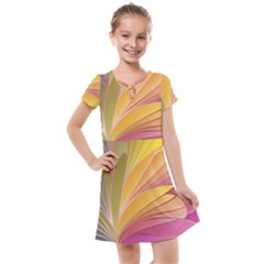 Modern Colorful Abstract Art Kids  Cross Web Dress by tarastyle