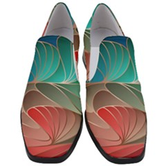 Modern Colorful Abstract Art Slip On Heel Loafers by tarastyle