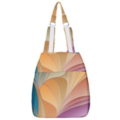 Modern Colorful Abstract Art Center Zip Backpack by tarastyle