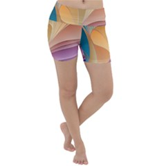 Modern Colorful Abstract Art Lightweight Velour Yoga Shorts by tarastyle