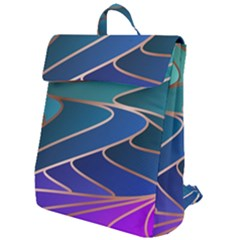 Modern Colorful Abstract Art Flap Top Backpack