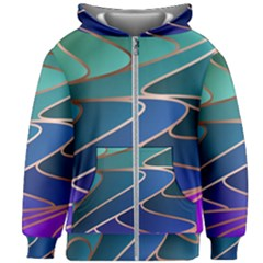 Modern Colorful Abstract Art Kids  Zipper Hoodie Without Drawstring by tarastyle