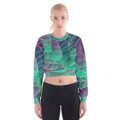 Modern Colorful Abstract Art Cropped Sweatshirt