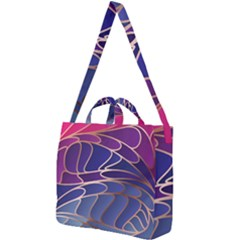 Modern Colorful Abstract Art Square Shoulder Tote Bag by tarastyle