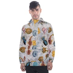 Sea World Vintage Pattern Men s Front Pocket Pullover Windbreaker by Valentinaart