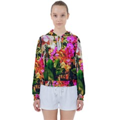 Orchids In The Market Women s Tie Up Sweat by okhismakingart