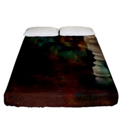 Abstract: Hallway Fitted Sheet (california King Size) by okhismakingart