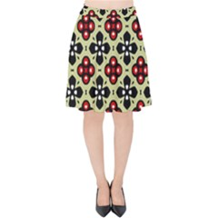 Under The Tiles Velvet High Waist Skirt