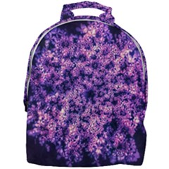 Queen Annes Lace In Purple And White Mini Full Print Backpack