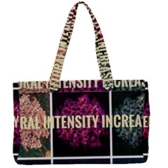 Floral Intensity Increases  Canvas Work Bag