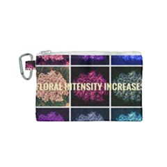 Floral Intensity Increases  Canvas Cosmetic Bag (small) by okhismakingart