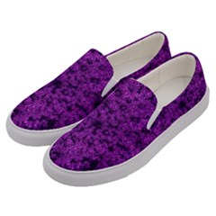 Queen Annes Lace In Purple Men s Canvas Slip Ons by okhismakingart