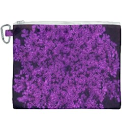 Queen Annes Lace In Purple Canvas Cosmetic Bag (xxxl)