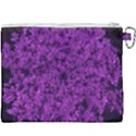 Queen Annes Lace in Purple Canvas Cosmetic Bag (XXXL) View2