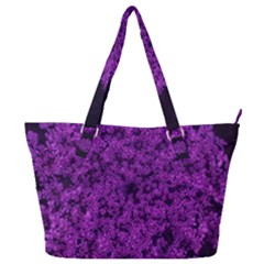 Queen Annes Lace In Purple Full Print Shoulder Bag