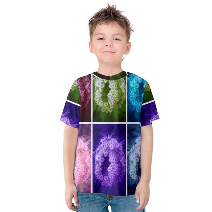Closing Queen Annes Lace Collage (Horizontal) Kids  Cotton Tee
