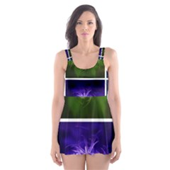 Closing Queen Annes Lace Collage (horizontal) Skater Dress Swimsuit