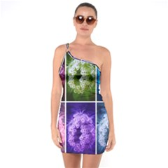 Closing Queen Annes Lace Collage (horizontal) One Soulder Bodycon Dress