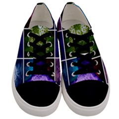 Closing Queen Annes Lace Collage (horizontal) Men s Low Top Canvas Sneakers