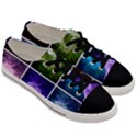 Closing Queen Annes Lace Collage (Horizontal) Men s Low Top Canvas Sneakers View3