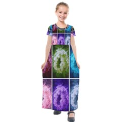 Closing Queen Annes Lace Collage (horizontal) Kids  Short Sleeve Maxi Dress