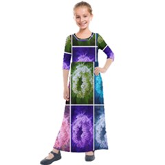 Closing Queen Annes Lace Collage (horizontal) Kids  Quarter Sleeve Maxi Dress