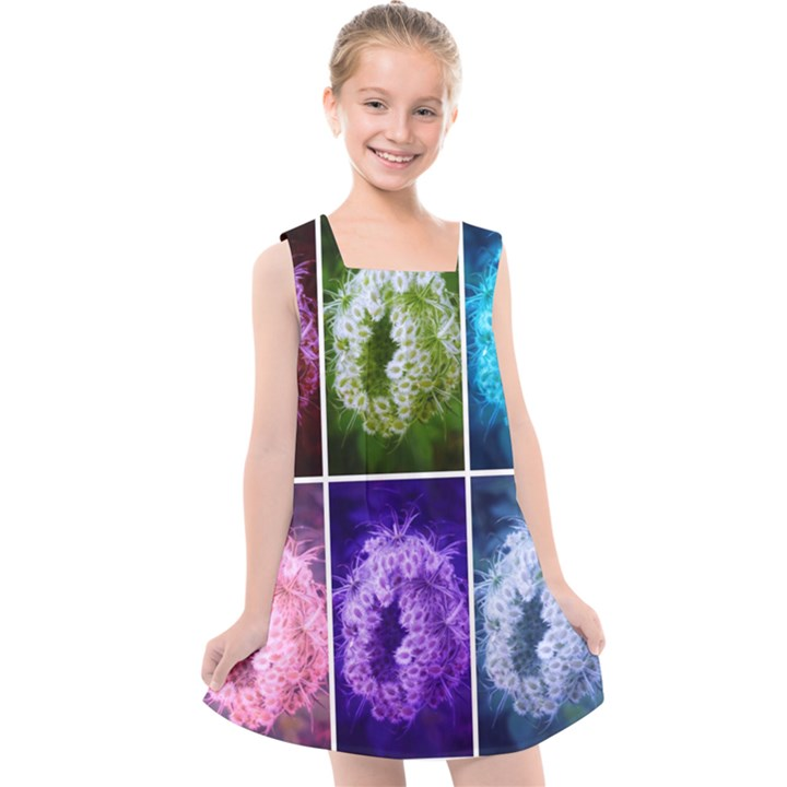 Closing Queen Annes Lace Collage (Horizontal) Kids  Cross Back Dress