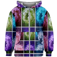 Closing Queen Annes Lace Collage (horizontal) Kids  Zipper Hoodie Without Drawstring