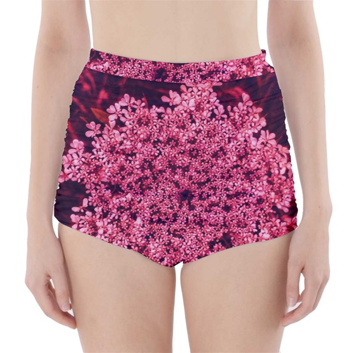 Queen Annes Lace in Red Part II High-Waisted Bikini Bottoms