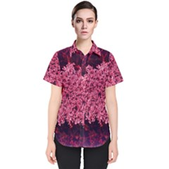 Queen Annes Lace In Red Part Ii Women s Short Sleeve Shirt