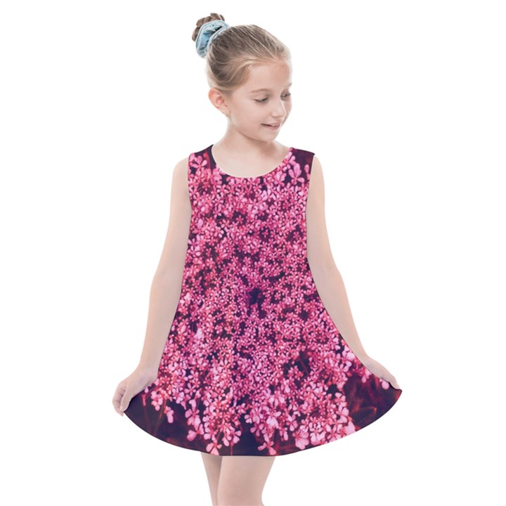 Queen Annes Lace in Red Part II Kids  Summer Dress