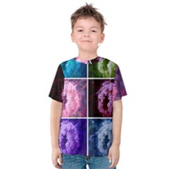 Closing Queen Annes Lace Collage (vertical) Kids  Cotton Tee