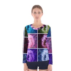 Closing Queen Annes Lace Collage (vertical) Women s Long Sleeve Tee