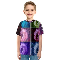 Closing Queen Annes Lace Collage (vertical) Kids  Sport Mesh Tee