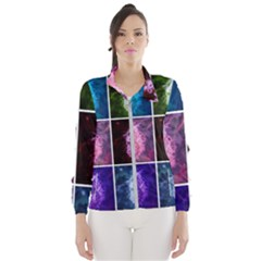 Closing Queen Annes Lace Collage (vertical) Women s Windbreaker