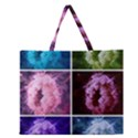 Closing Queen Annes Lace Collage (Vertical) Zipper Large Tote Bag View1