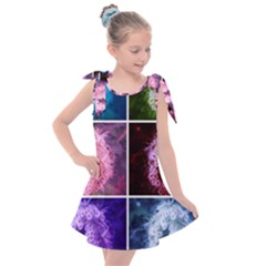 Closing Queen Annes Lace Collage (vertical) Kids  Tie Up Tunic Dress