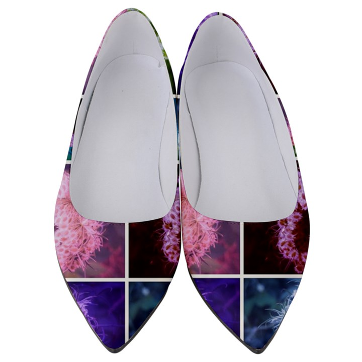 Closing Queen Annes Lace Collage (Vertical) Women s Low Heels