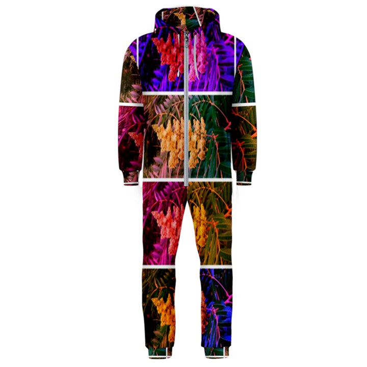 Sideways Sumac Collage Hooded Jumpsuit (Men)