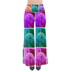 Color Block Queen Annes Lace Collage So Vintage Palazzo Pants by okhismakingart