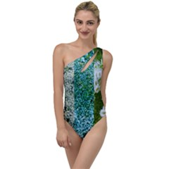 Queen Annes Lace Vertical Slice Collage To One Side Swimsuit by okhismakingart