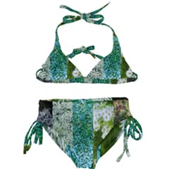 Queen Annes Lace Vertical Slice Collage Kids  Classic Bikini Set by okhismakingart