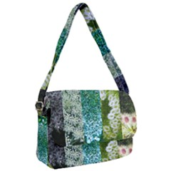 Queen Annes Lace Vertical Slice Collage Courier Bag by okhismakingart
