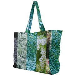 Queen Annes Lace Vertical Slice Collage Simple Shoulder Bag by okhismakingart