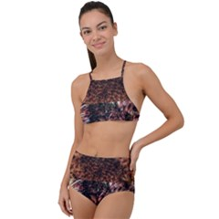 Queen Annes Lace Horizontal Slice Collage High Waist Tankini Set by okhismakingart