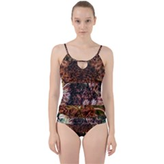 Queen Annes Lace Horizontal Slice Collage Cut Out Top Tankini Set by okhismakingart