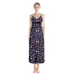 Dusk Rose Button Up Chiffon Maxi Dress