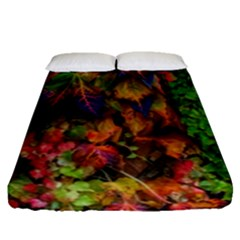 Fall Ivy Fitted Sheet (queen Size) by okhismakingart