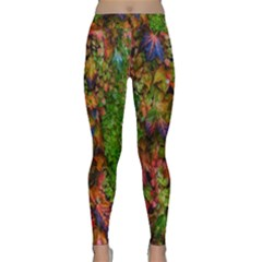 Fall Ivy Classic Yoga Leggings by okhismakingart