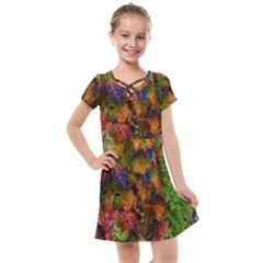 Fall Ivy Kids  Cross Web Dress by okhismakingart